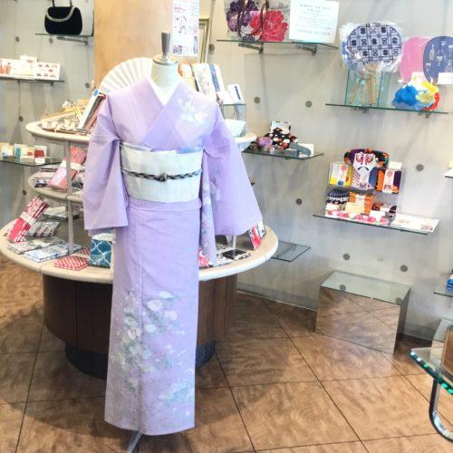 夏・絽の訪問着薄紫